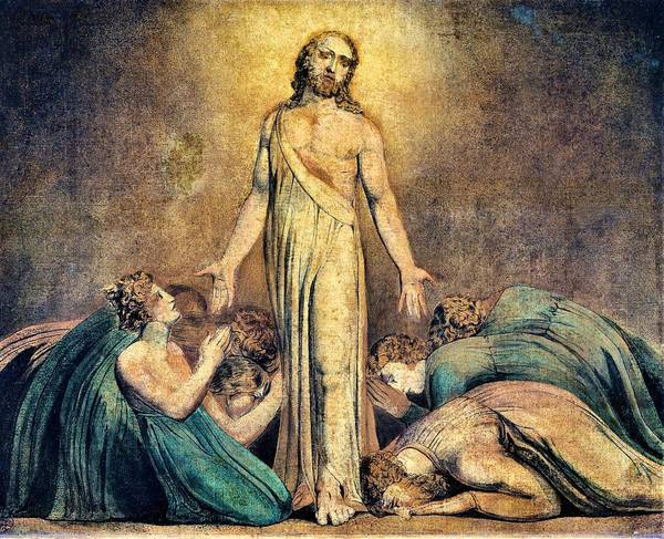 Wall Art - Painting - Christ Appearing To The Apostles After The Resurrection - Digital Remastered Edition by William Blake