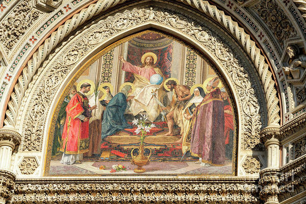 Photograph - Christ Enthroned With Mary And John The Baptist Florence Cathedral by John Rizzuto
