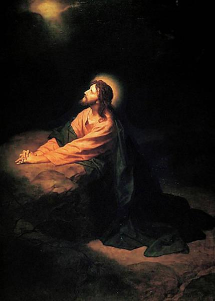 Painting - Christ In Gethsemane  by Heinrich Hofmann