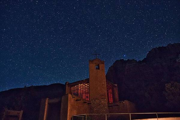 Wall Art - Photograph - Christ In The Desert Monastery At Night by Trey Flynt