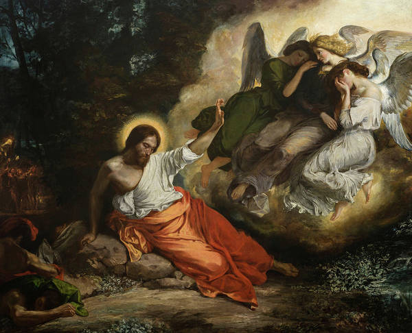 Wall Art - Painting - Christ In The Garden Of Olives, The Agony In The Garden by Eugene Delacroix