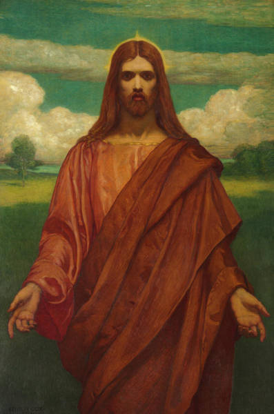 My Son Painting - Christ by Kenyon Cox