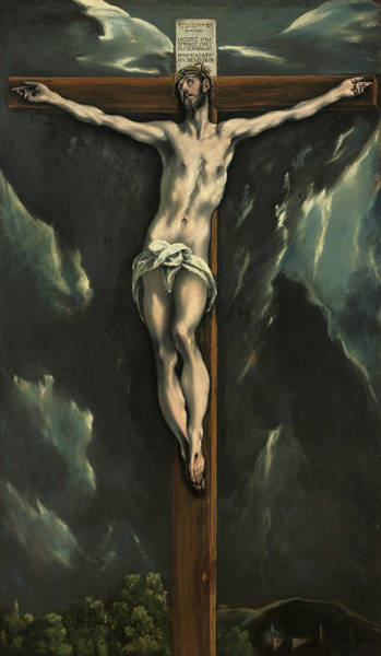 Golgotha Painting - Christ On The Cross, 1610 by El Greco
