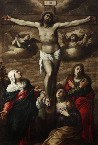 Golgotha Painting - Christ On The Cross by Annibale Carracci
