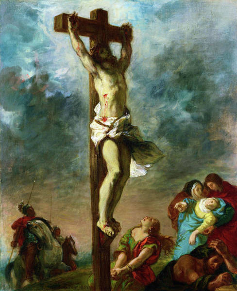 Wall Art - Painting -  Christ On The Cross - Digital Remastered Edition by Eugene Delacroix