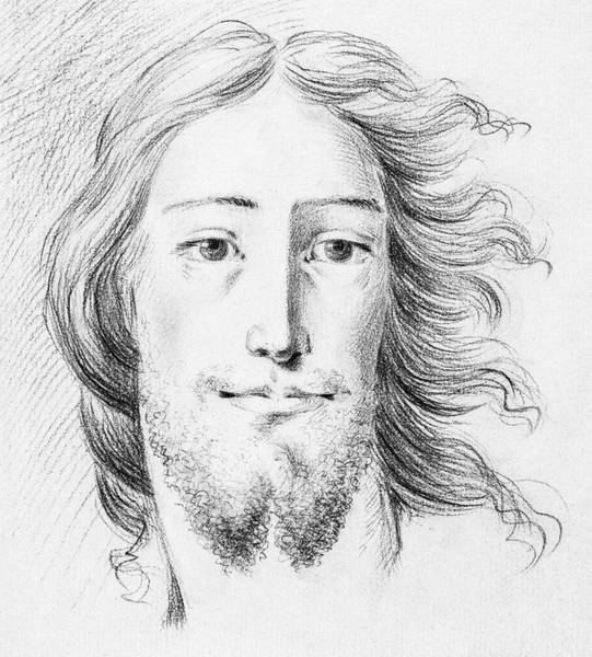 Wall Art - Painting - Christ Sketch By Jean Bernard  1775-1883  by Celestial Images