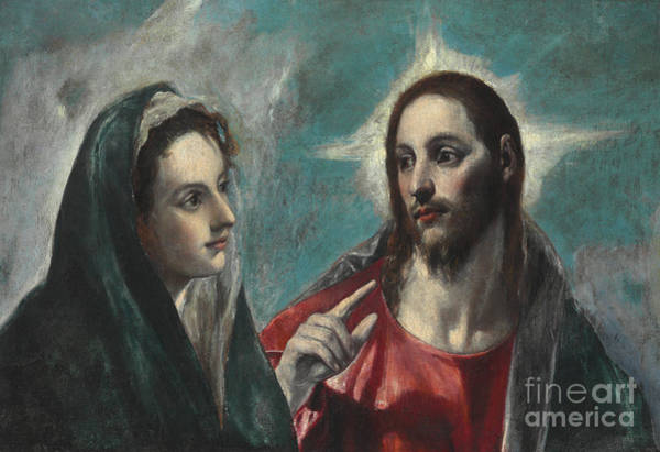 Wall Art - Painting - Christ Taking Leave Of His Mother by El Greco