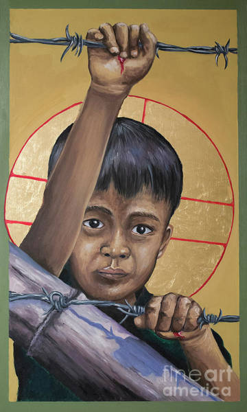 Painting - Christ The Dreamer - Mrctd by Fr Michael Reyes OFM