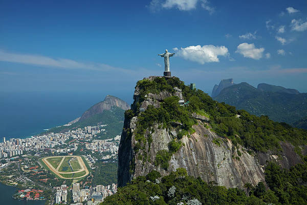 Wall Art - Photograph - Christ The Redeemer Atop Corcovado by David Wall