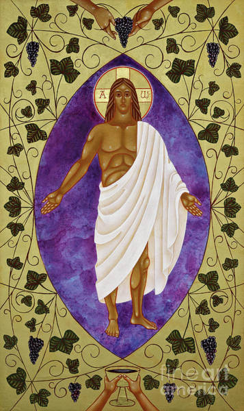 Communion Painting - Christ The True Vine by Jodi Simmons