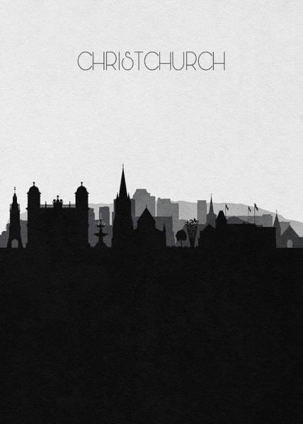Wall Art - Digital Art - Christchurch Cityscape Art by Inspirowl Design