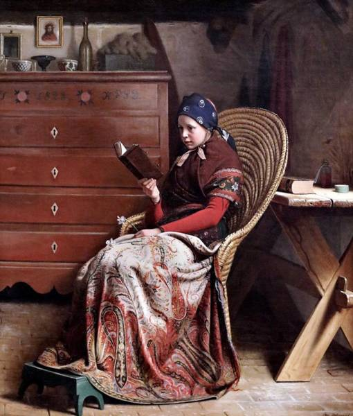 Wall Art - Painting - Christen Dalsgaard 1824-1907 Copenhague Une Convalescente A Convalescent 1870 by Celestial Images