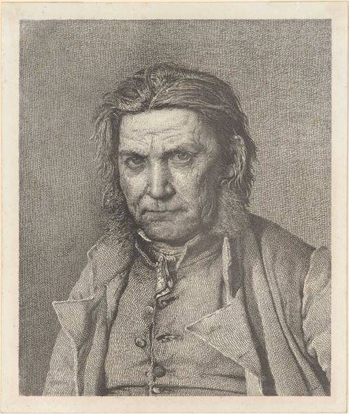 Wall Art - Painting - Christen Kobke 1810-1848 An Old Fisherman by Celestial Images