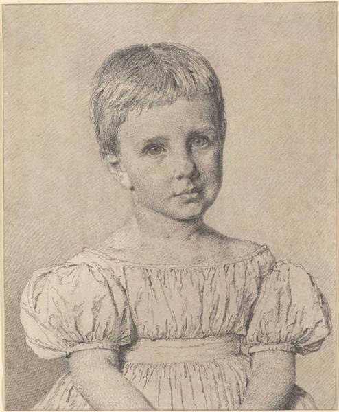 Wall Art - Painting - Christen Kobke 1810-1848 Sophie Magdalene Clausen At The Age Of Four by Celestial Images