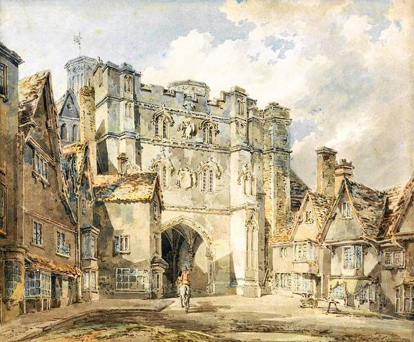 Wall Art - Painting - Christian Church Gate, Canterbury - Digital Remastered Edition by William Turner