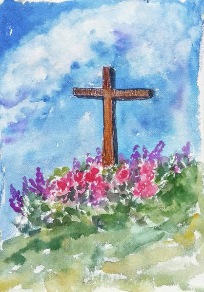 Wall Art - Painting - Christian Cross 3 by Asha Sudhaker Shenoy