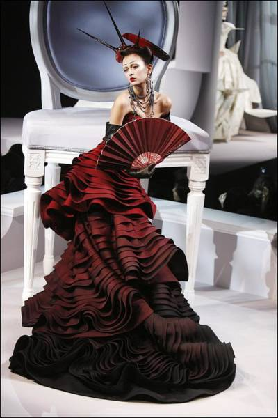 Photograph - Christian Dior, Haute Couture by Alain Benainous