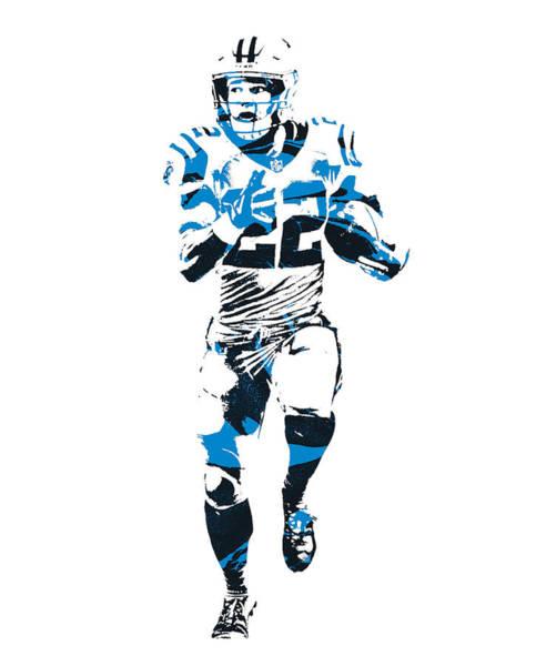 Wall Art - Mixed Media - Christian Mccaffrey Carolina Panthers Pixel Art 20 by Joe Hamilton