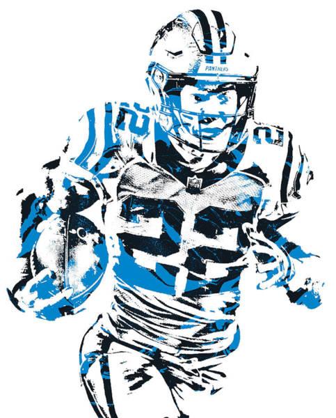 Wall Art - Mixed Media - Christian Mccaffrey Carolina Panthers Pixel Art 21 by Joe Hamilton