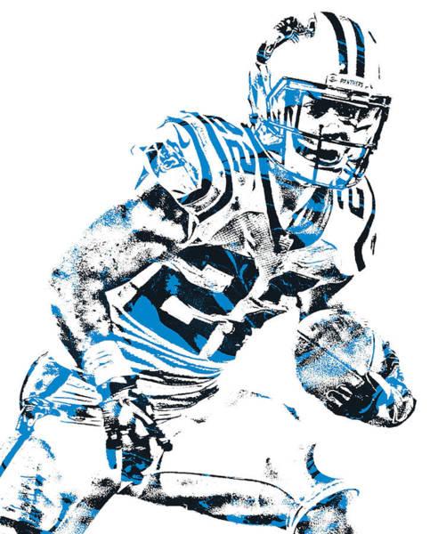 Wall Art - Mixed Media - Christian Mccaffrey Carolina Panthers Pixel Art 22 by Joe Hamilton