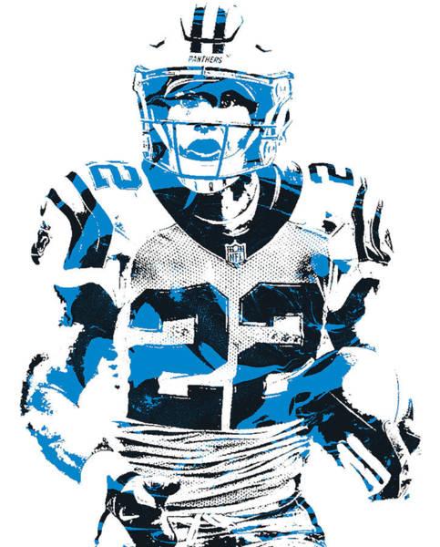 Wall Art - Mixed Media - Christian Mccaffrey Carolina Panthers Pixel Art 23 by Joe Hamilton
