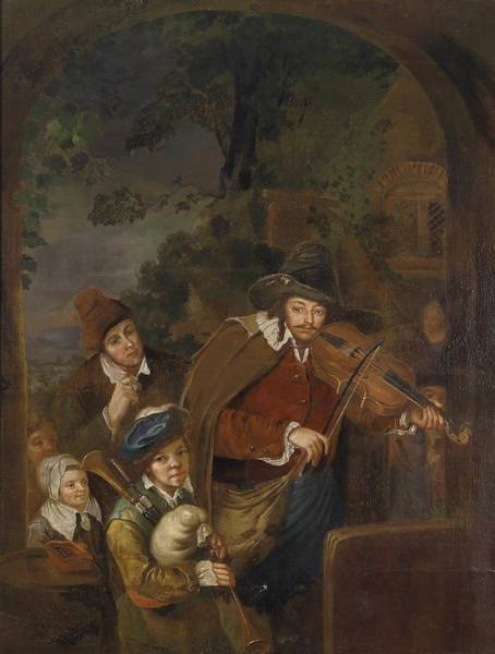 Wall Art - Painting - Christian Wilhelm Ernst Dietrich  Nachahmer Wandermusikanten by Celestial Images
