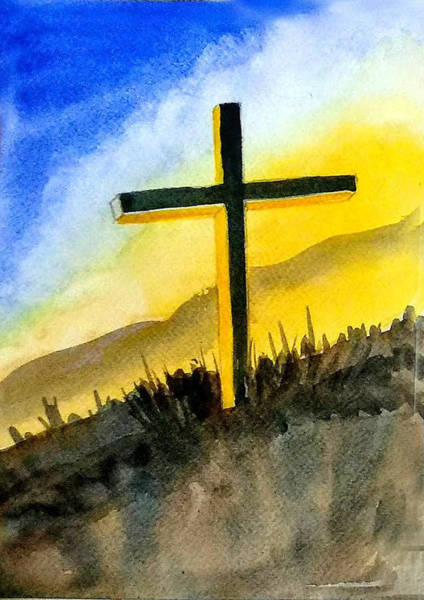 Wall Art - Painting - Christian Cross 2 by Asha Sudhaker Shenoy