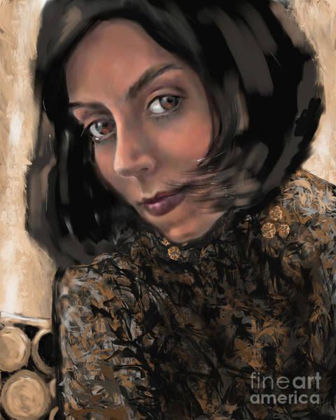 Digital Art - Christina by Lora Serra