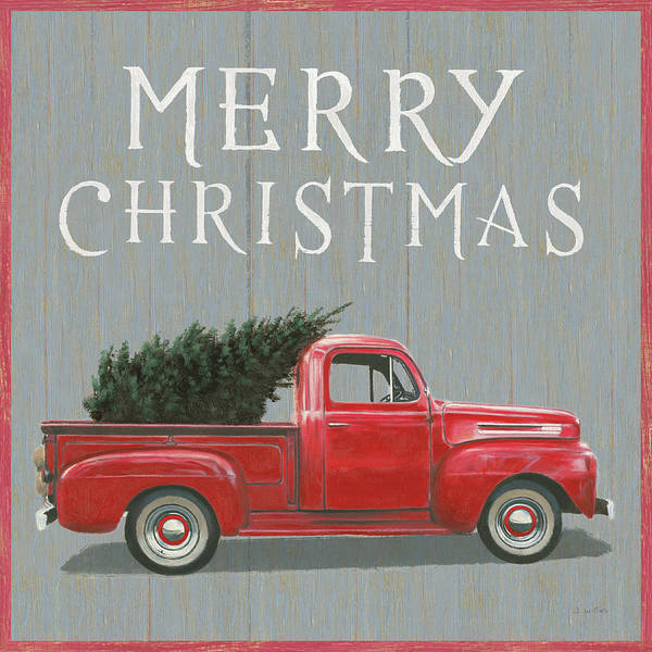Wall Art - Painting - Christmas Affinity Xi Merry Christmas by James Wiens