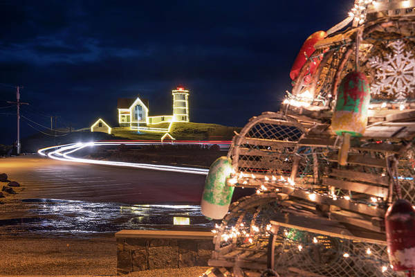 Photograph - Christmas At Nubble Lighthouse by Joann Vitali