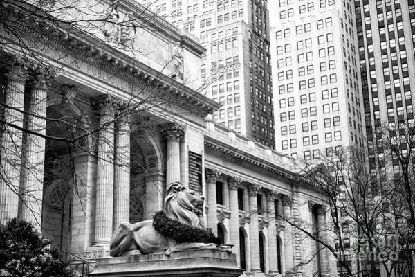 Wall Art - Photograph - Christmas At The New York Public Library At 42nd Street by John Rizzuto