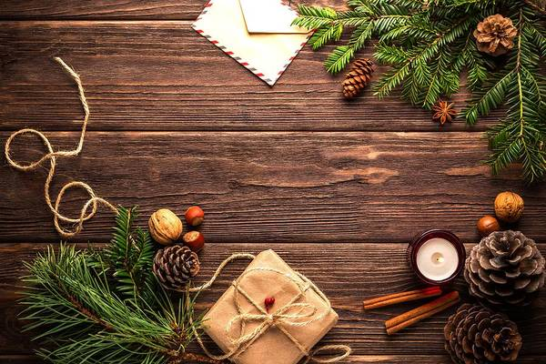 Photograph - Christmas Background by Top Wallpapers
