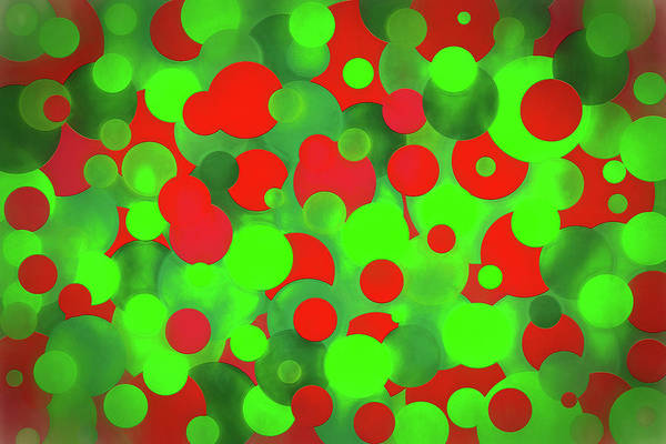 Christmas Season Wall Art - Digital Art - Christmas Balls Abstract by Steve Ohlsen