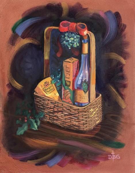 Painting - Christmas Basket by David Bader