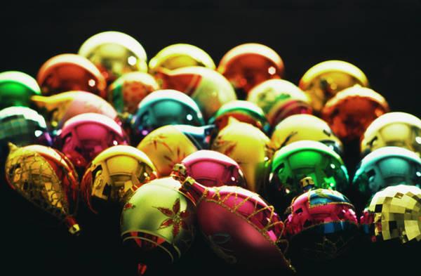Photograph - Christmas Baubles by Alfred Gescheidt
