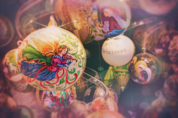 Wall Art - Photograph - Christmas Baubles Vienna Austria  by Carol Japp