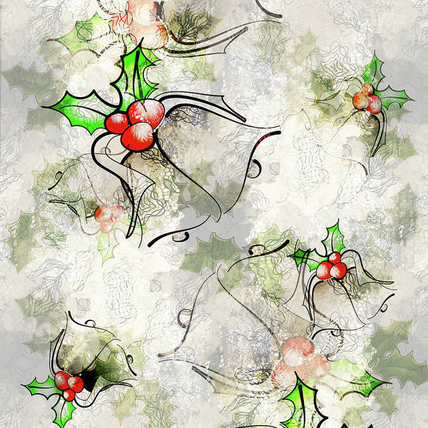 Digital Art - Christmas Bells Overlay by Jocelyn Friis