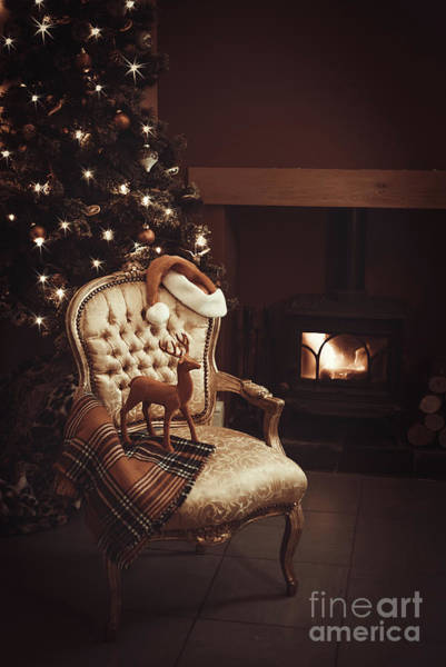 Wall Art - Photograph - Christmas By A Roaring Log Fire by Amanda Elwell