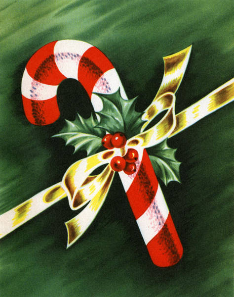 Holly Digital Art - Christmas Candy Cane by Graphicaartis