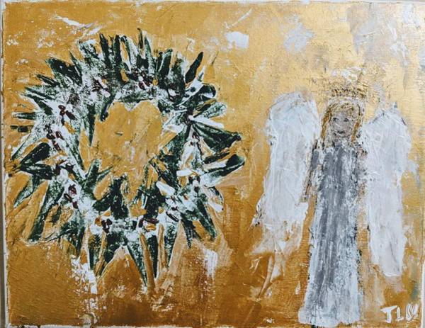 Painting - Christmas Celebration  Angel by Jennifer Nease