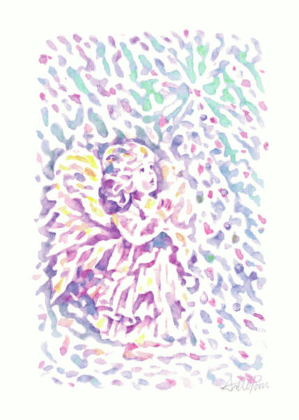 Pan Head Painting - Christmas-child,angel,children ,blessed,wishes,pray,watercolor,colourful,dazzling,hand-painted,gift by Artto Pan