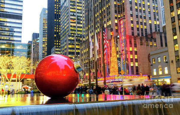 Photograph - Christmas Colors On Sixth Avenue New York City by John Rizzuto