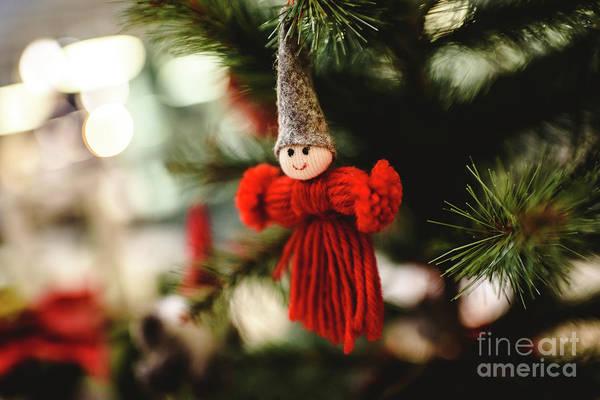 Photograph - Christmas Decoration, Small Dolls To Hang On The Christmas Tree. by Joaquin Corbalan