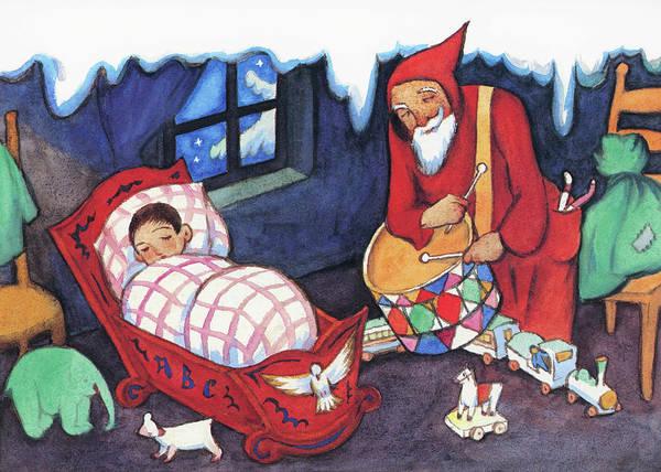 Wall Art - Painting - Christmas - Digital Remastered Edition by Takehisa Yumeji