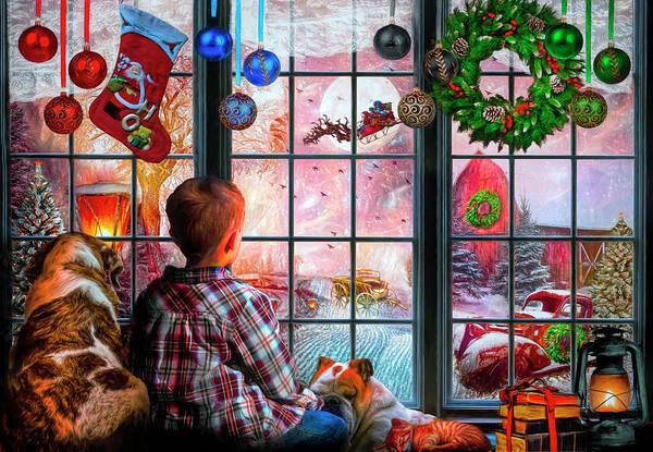 Digital Art - Christmas Dreams by Debra and Dave Vanderlaan