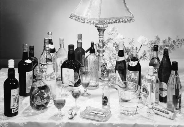 Bottle Photograph - Christmas Drinks by Chaloner Woods