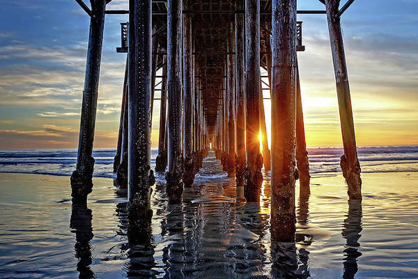 Wall Art - Photograph - Christmas Eve At The Pier by Ann Patterson