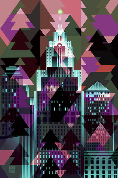Wall Art - Digital Art - Christmas Eve Detroit by Garth Glazier