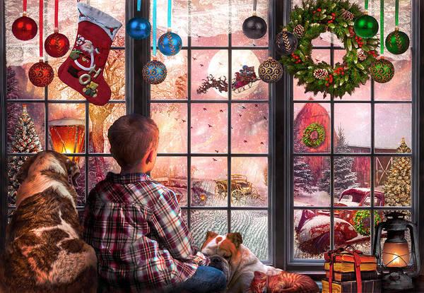 Wall Art - Digital Art - Christmas Eve Dreams by Debra and Dave Vanderlaan