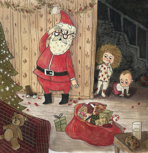 Trimming Painting - Christmas Eve by Ema Malyauka